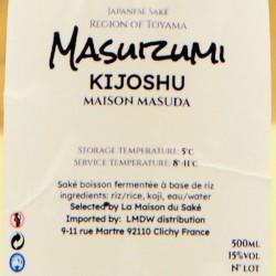 "Saké Maison Masuda ""Masuizumi Kijoshu"""