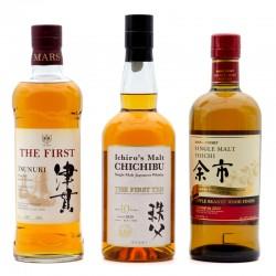 Trio Whiskies Japonais