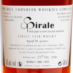 Whisky Michel Couvreur - Spiral Chapter III 2002